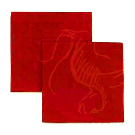 45х45 Столовая льняная салфетка красная