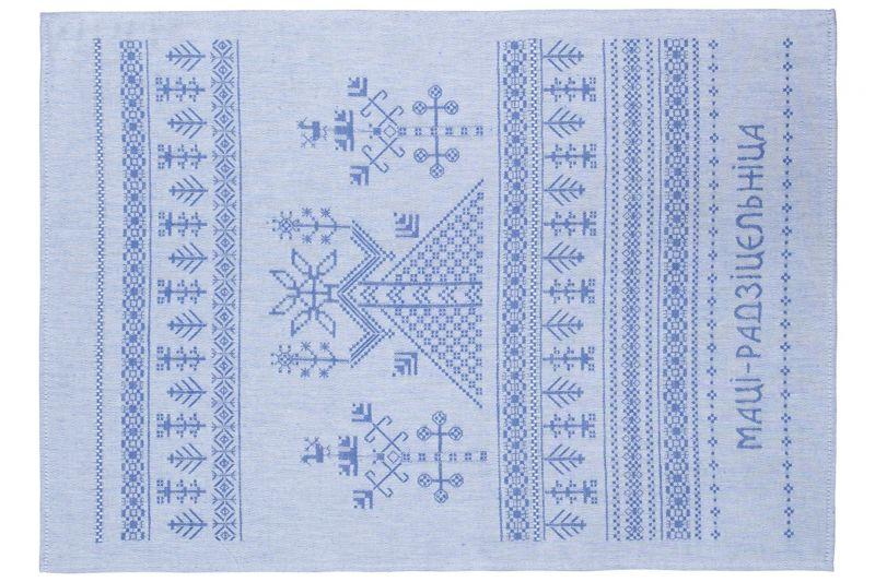 50 см. Ткань для кухонных полотенец в сине-красную полоску