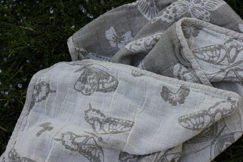 80х130 Уваренное банное полотенце Butterfly