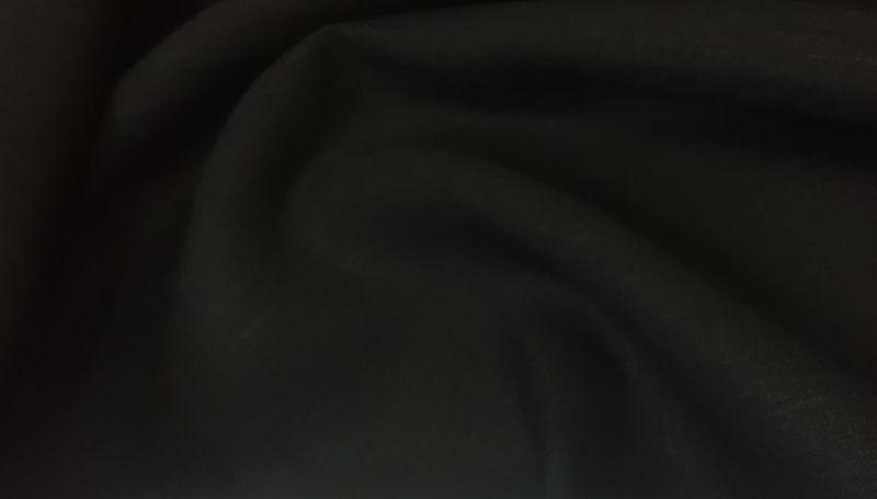 260 см. Широкая льняная ткань черного цвета 100% лен