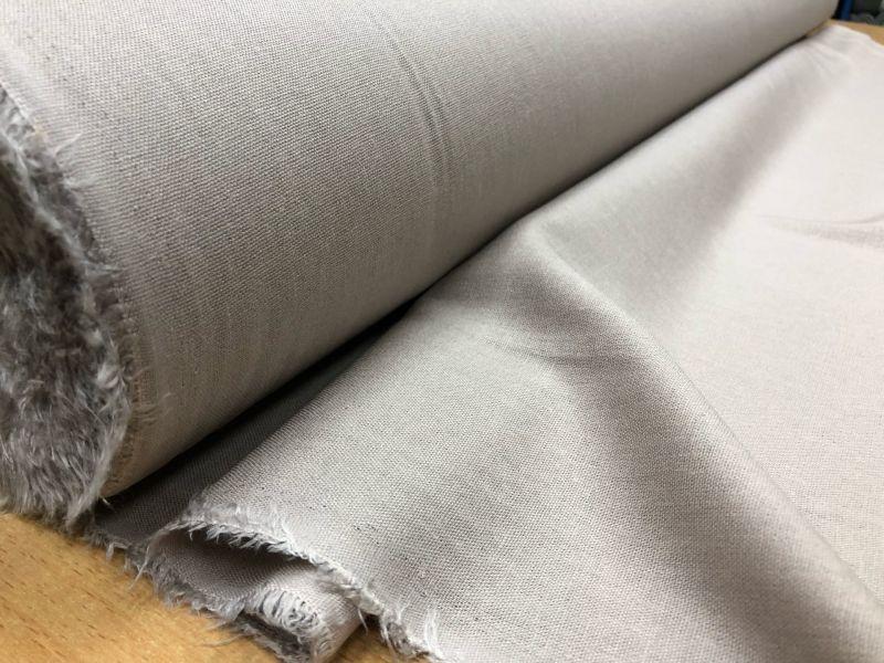 138 см. Лен с вискозой ткань для одежды Графитового цвета
