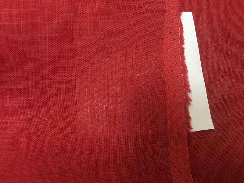 150 см. Красный Лен-Батист Red Alert 125 г/м