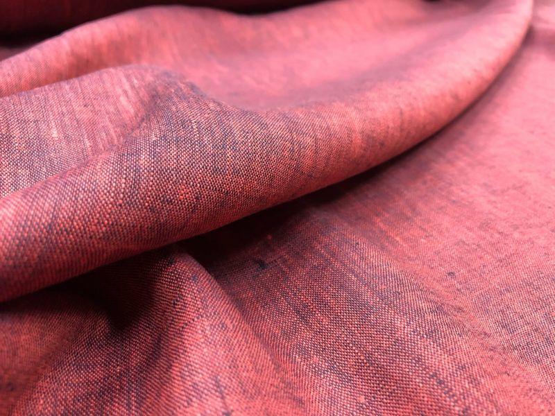 150 см. Тонкий сорочечный бордовый меланж