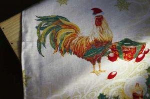 Новогоднее полотенце Год Петуха