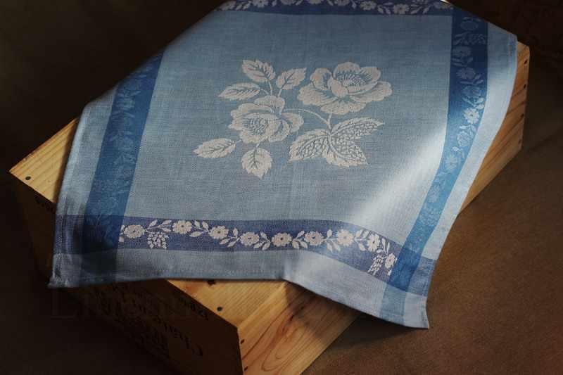 48х48 Столовая льняная салфетка Елизавета Blue