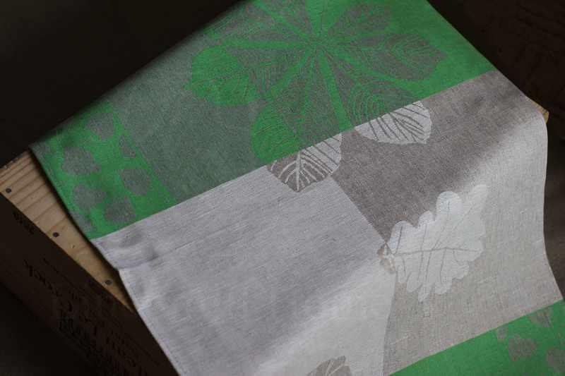 Зелёное полотенце для кухни Бостон Green