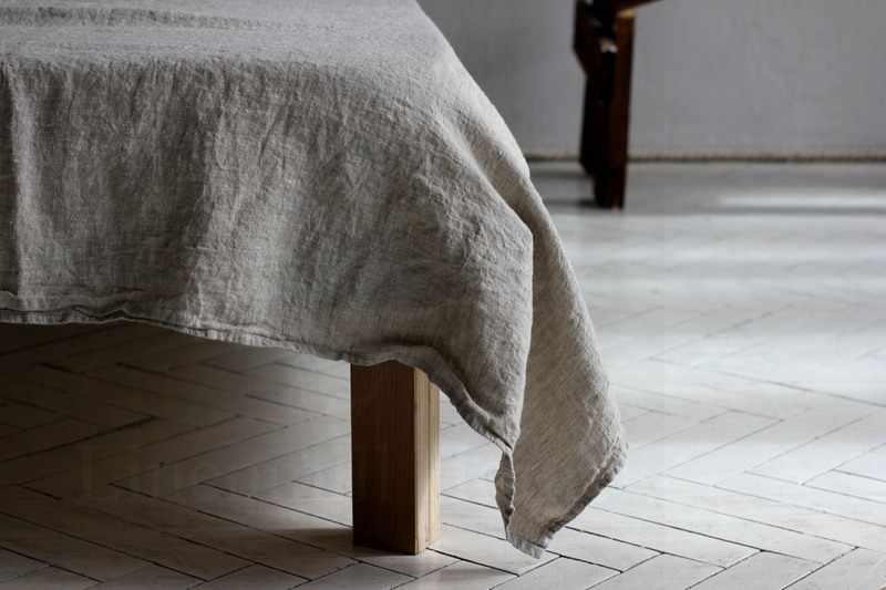160х220 1.5 Мягкая льняная простынь Soft linen