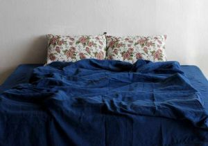 Евро комплект постельного белья из льна Alehandro