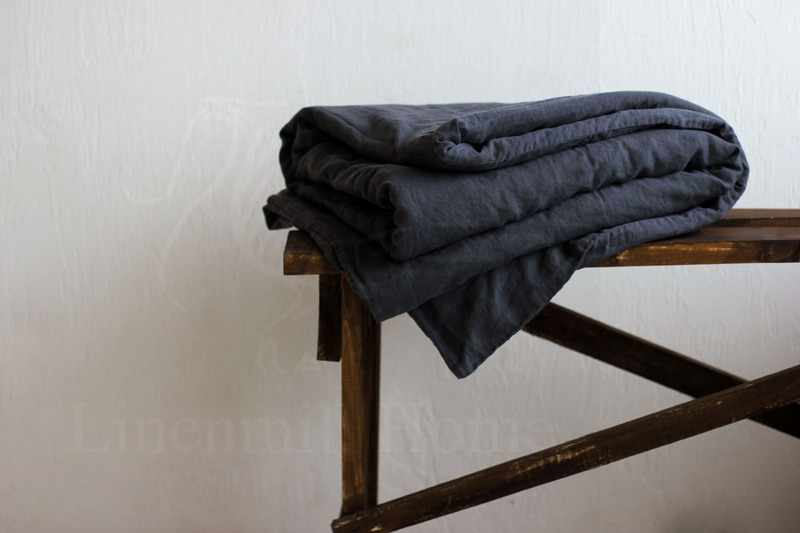 150х205 Пододеяльник 1.5 спальный Dark Grey