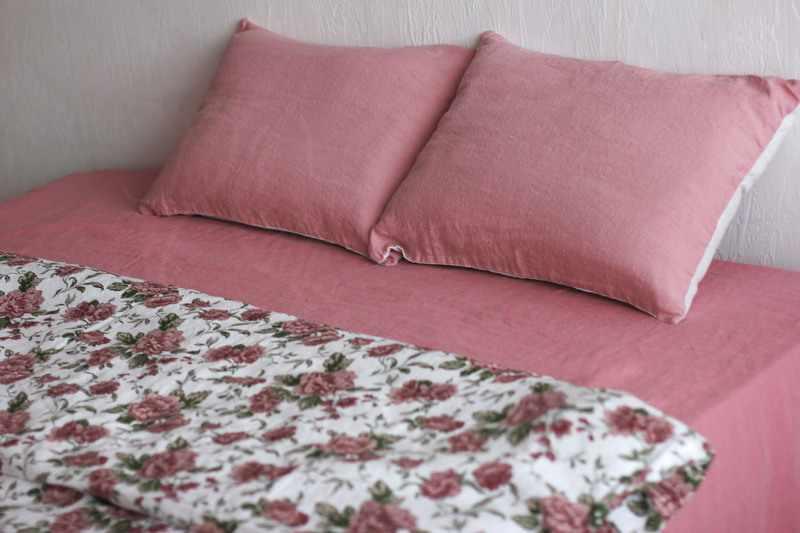 Лен ткань постельное белье Евро Grigorio