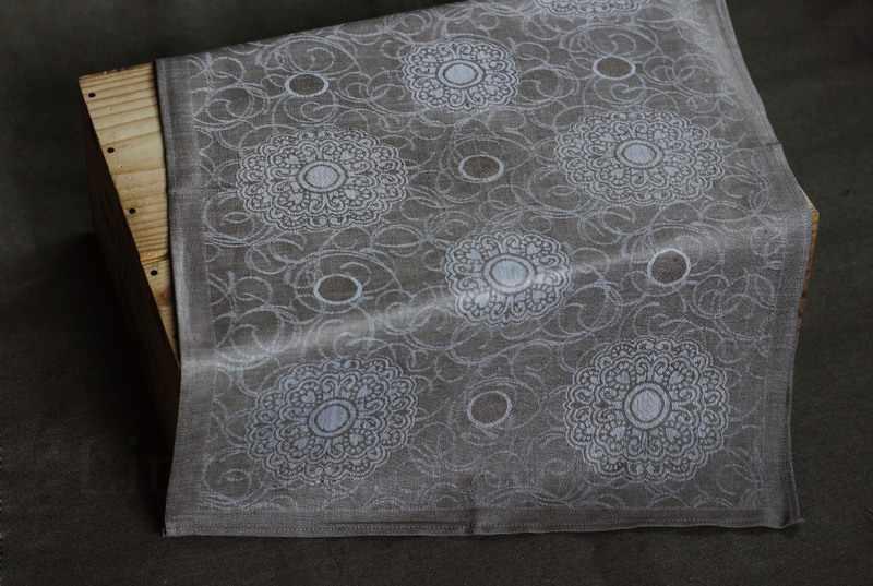 50х70 Льняное жаккардовое полотенце Милан