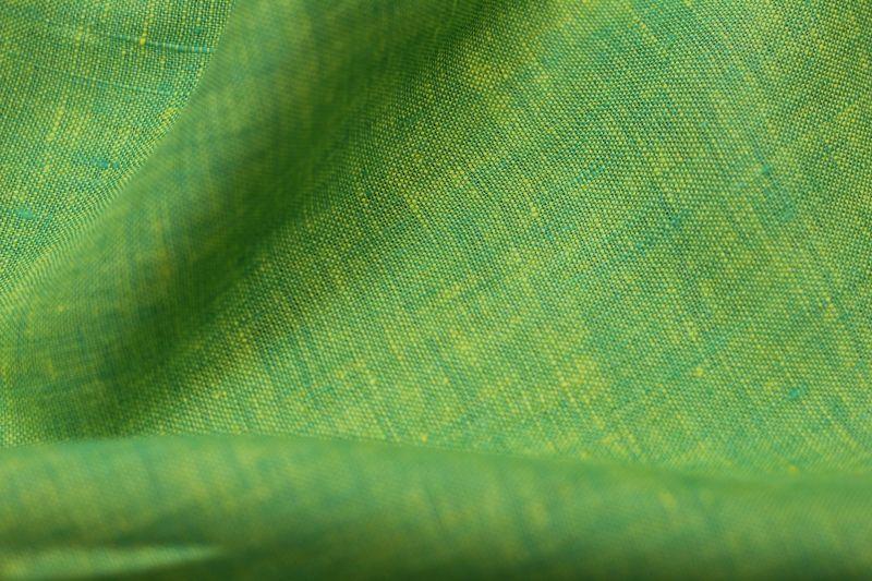 Умягчённый Меланжевый лён Жёлто-Салатовый