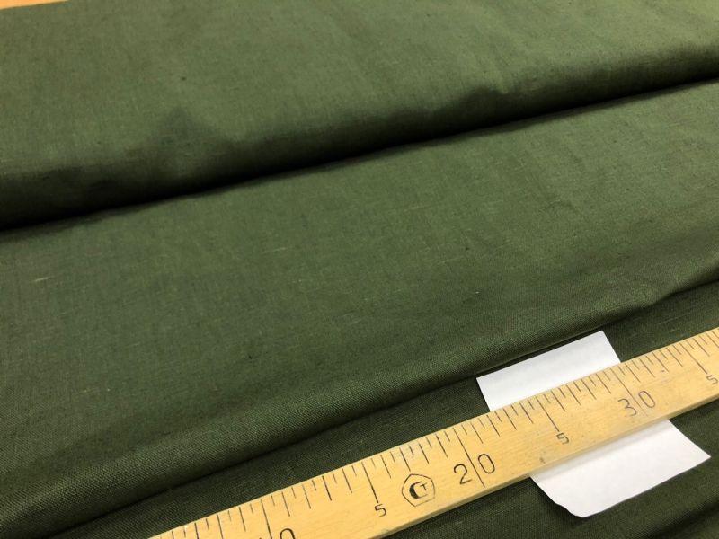 150 см. Льняная ткань для штор Олива