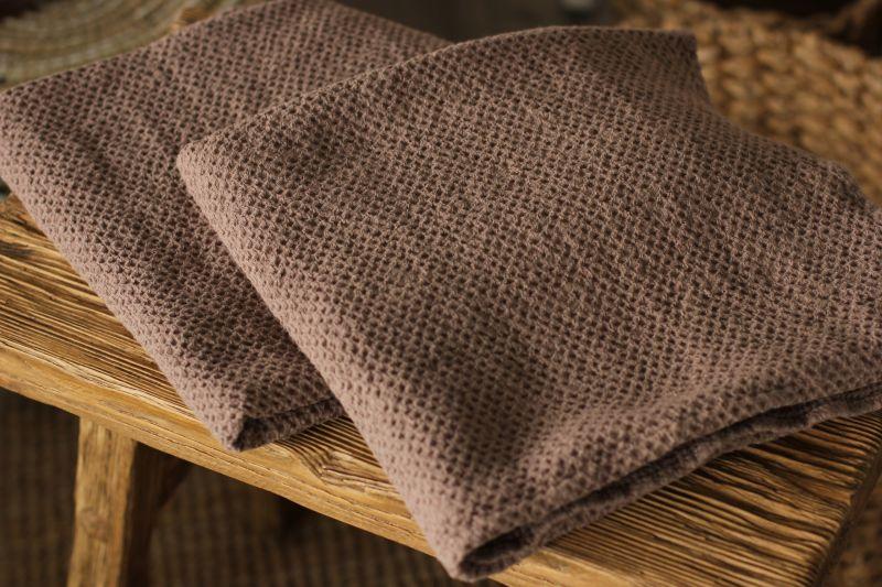 70х120 Большое коричневое вафельное полотенце