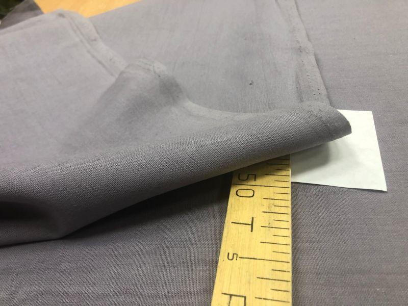 150 см. Ткань для штор лен с вискозой Серого цвета