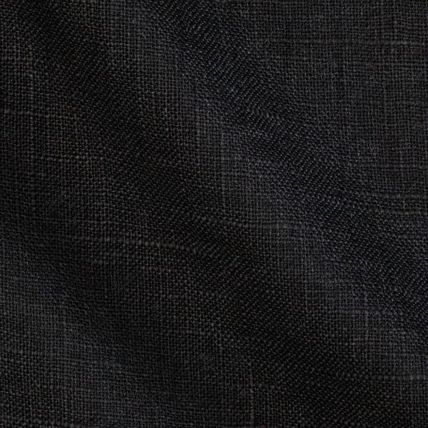 150 см. Чёрный лён для одежды умягчённый