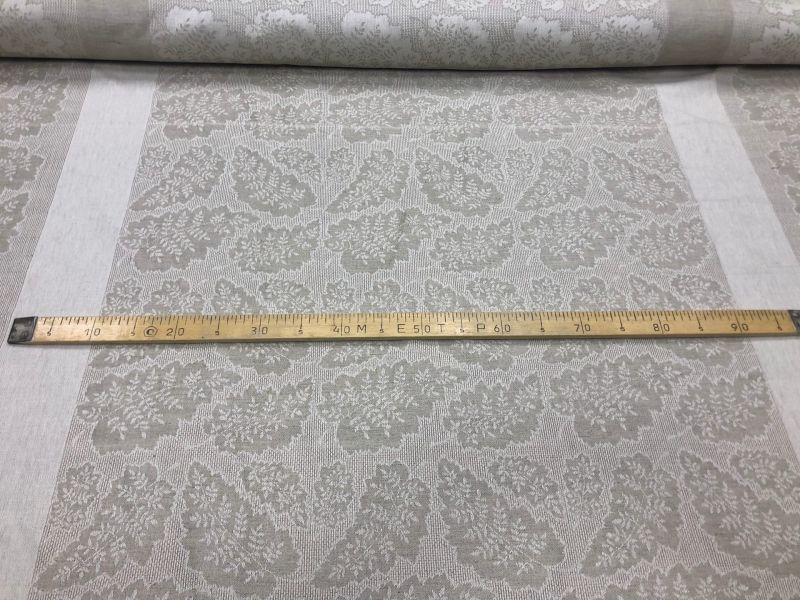 160 см. Жаккардовая ткань для скатерти Дубовый Лист