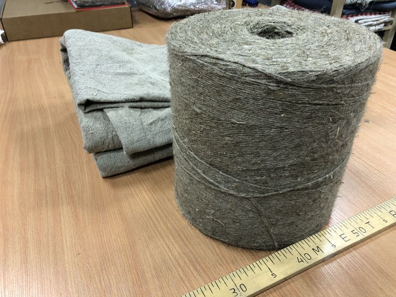 Пряжа Сухая на Бобине 100% лён 7,5 кг.