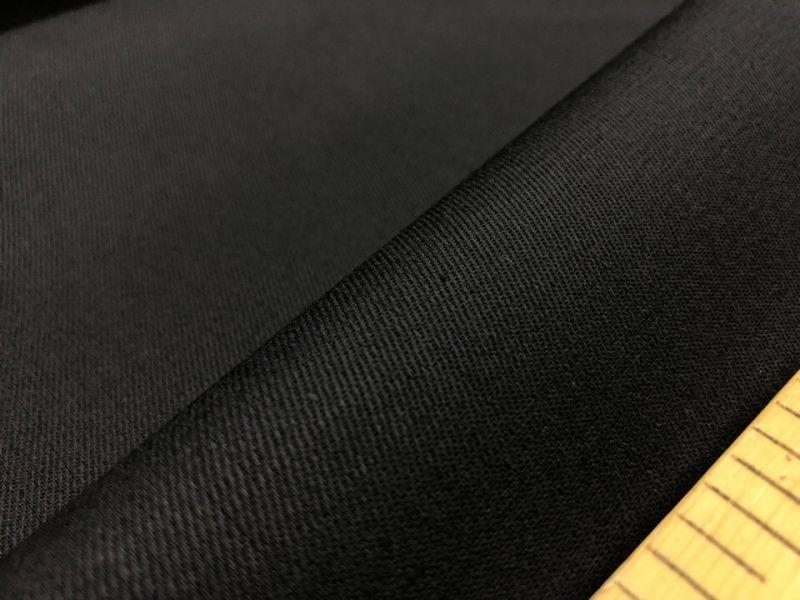 155 см. Ткань хлопковая саржа черная