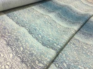 Льняная ткань для платья Desert green
