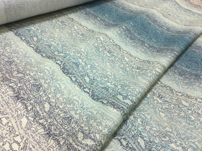 150 см. Льняная ткань для платья Desert green
