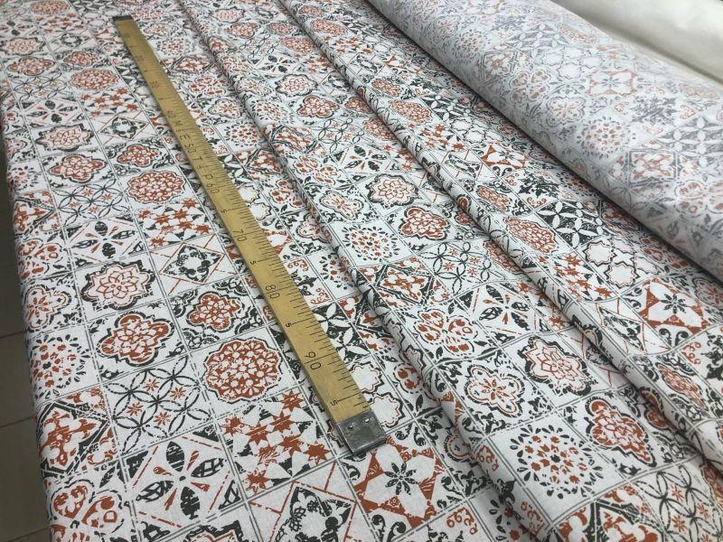 150 см. Ткань для постельного белья Греческие символы
