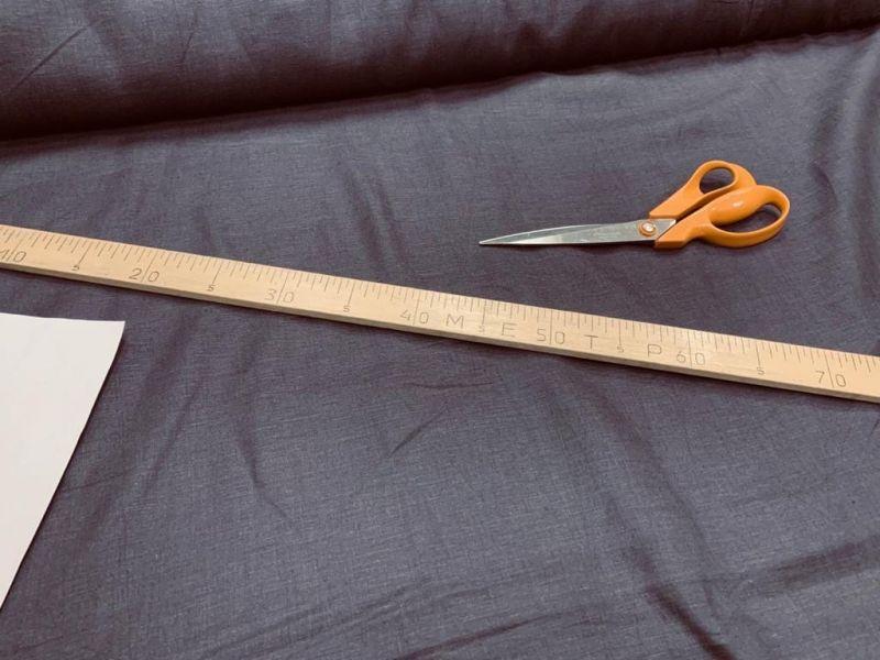 175 см. Умягченная льняная ткань для одежды Фиолетово-коричневый
