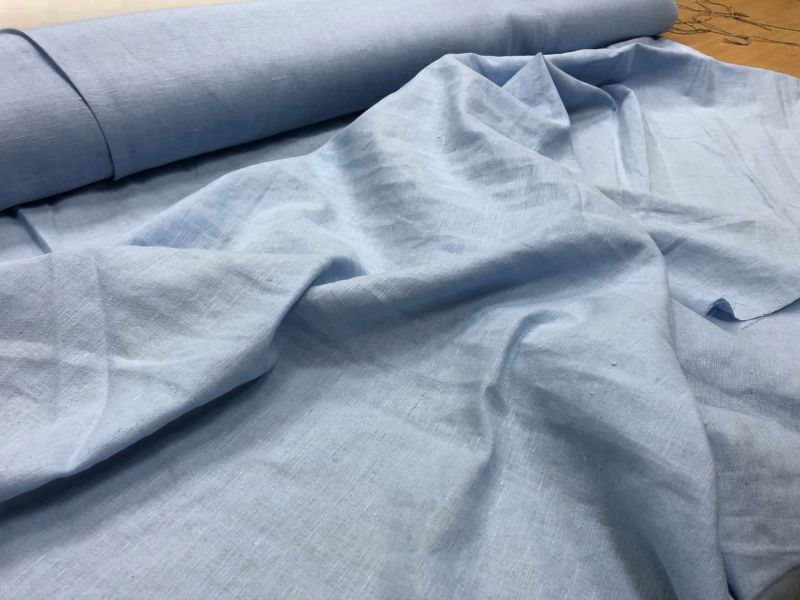 150 см. Мягкая ткань для штор Голубого цвета