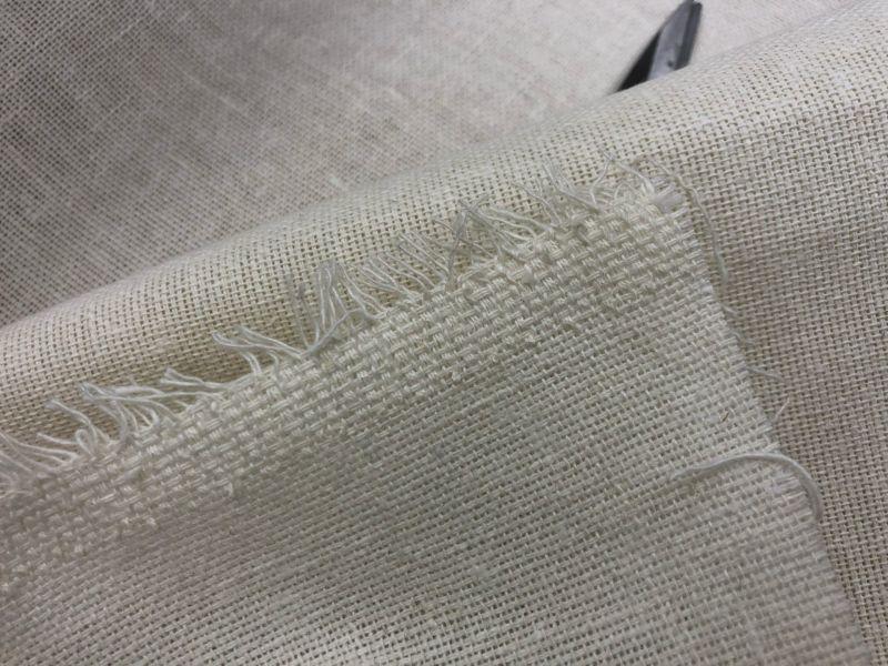 105 см. Мешковина белая ткань 415 г/м