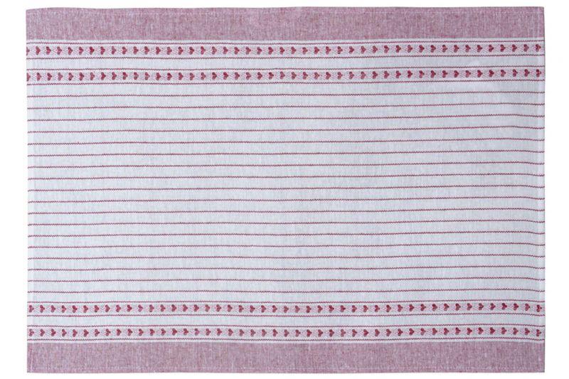 45х65 Льняное полотенце Валентинка