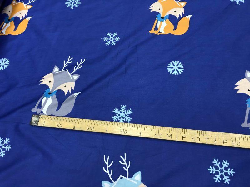 235 см. Ткань для постельного белья сатин Лесные Зверята