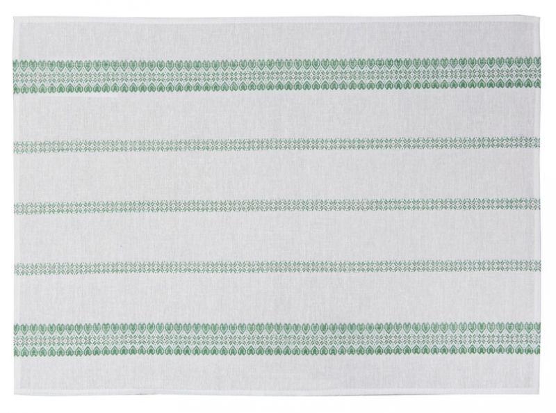 65х45 Кухонное полотенце Святочнае зеленое