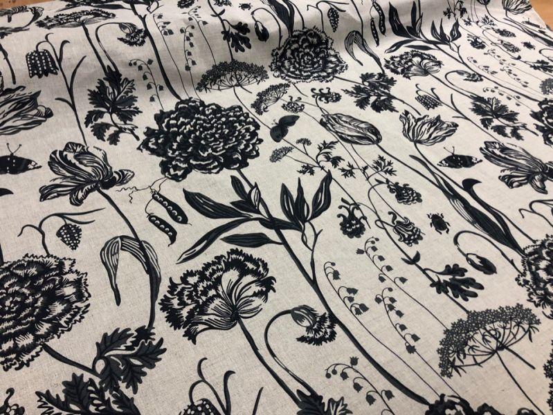 150 см. Ткань портьерная с рисунком Ботаника
