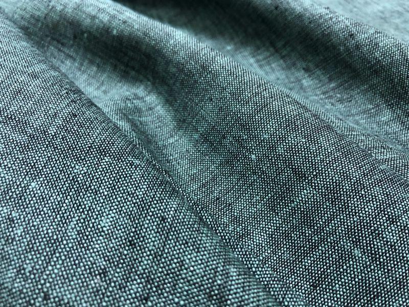 150 см. Ткань меланж Мятно-Черный
