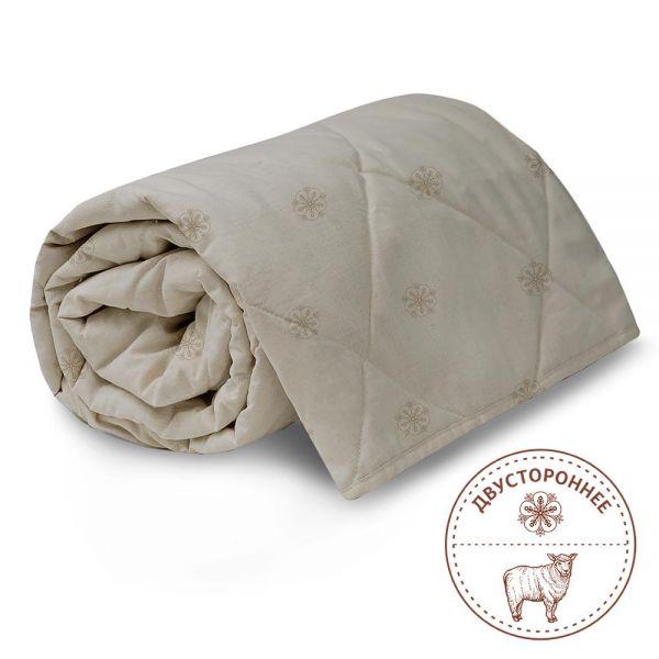 140х205 Одеяло двухстороннее лен-шерсть