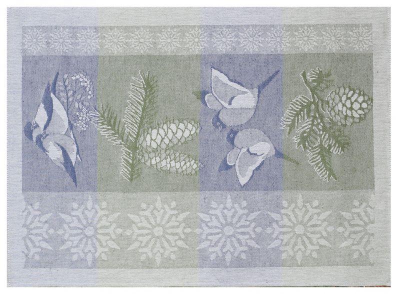 49х70 Кухонное полотенце Круговорот Снегири