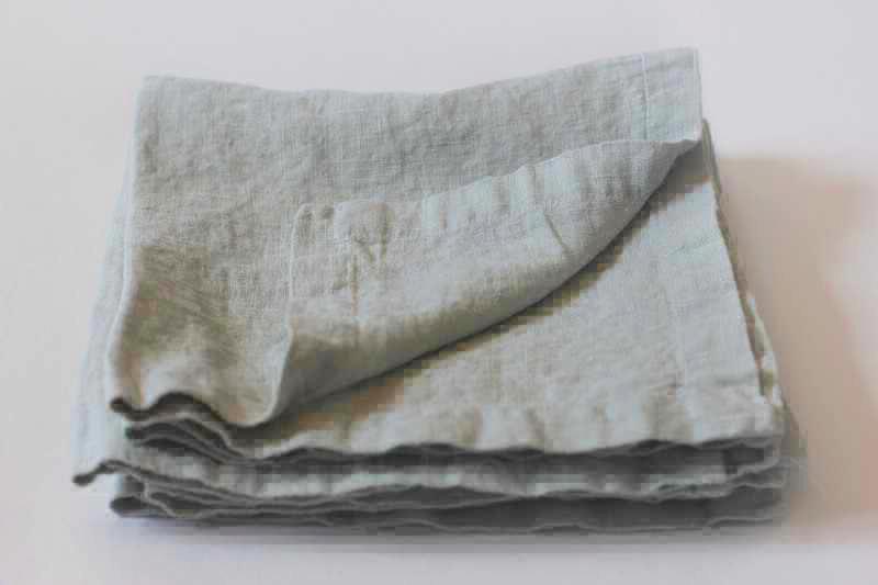 50х50 Льняная салфетка мягкая Winter Grey