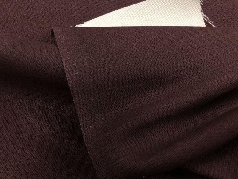 150 см. Шоколадная Ткань для штор лен/хлопок