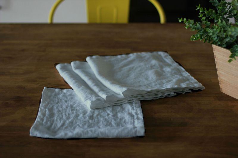 50х25 Льняная сервировочная салфетка Winter grey