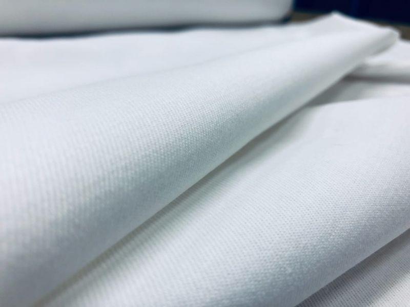 155 см. Белая хлопковая ткань саржа для скатерти и салфеток