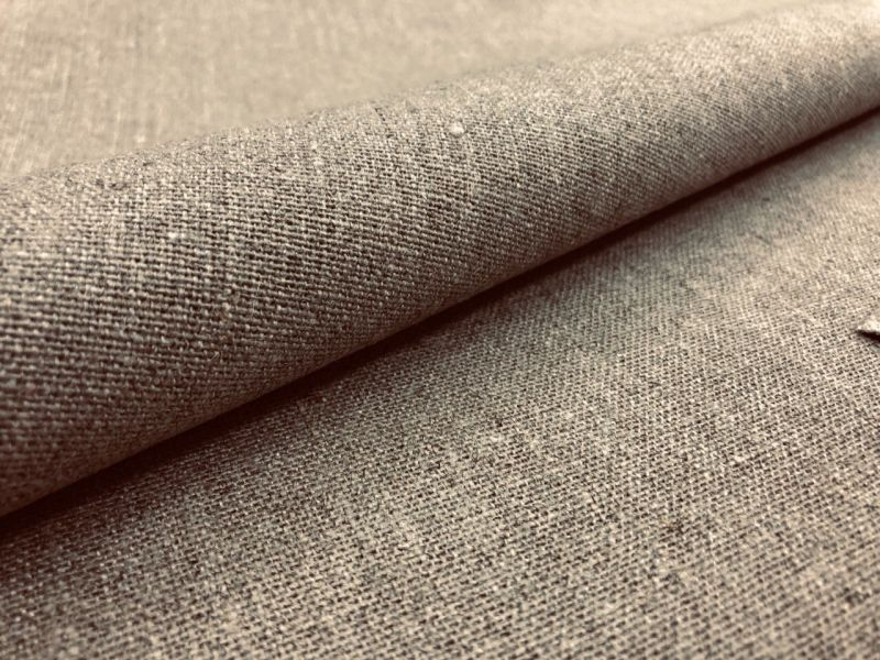 150 см. Декоративная холщовая льняная ткань