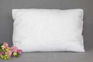 50х70 Белая наволочка Natural linen