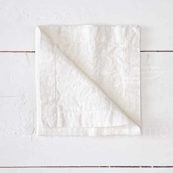 40х40 Белая салфетка сервировочная Soft Linen