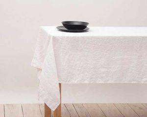 300х150 Большая белая скатерть Soft linen