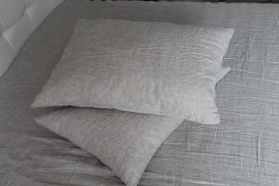 50х70 Льняная наволочка Natural Linen