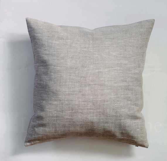 70х70 Льняная наволочка Natural linen