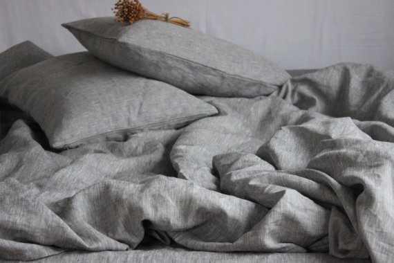 1.5 спальный льняной комплект белья Nature Linen