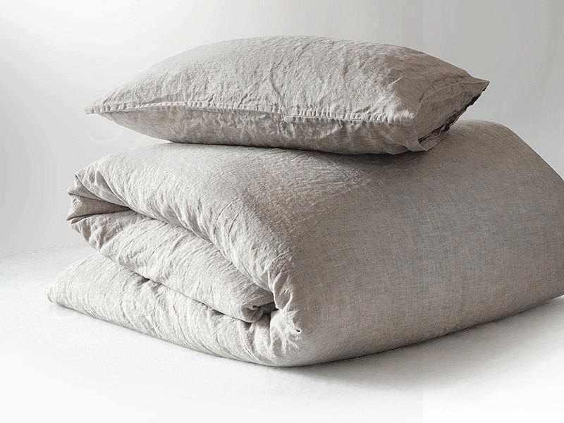 70х70 Наволочка из мягкого льна Soft linen