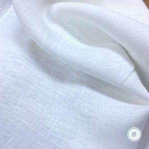 150 см. Белая льняная ткань умягчённая (отбел) 100% лён