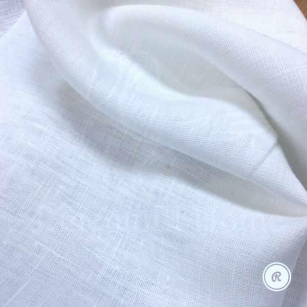 150 см. Оптически белый умягчённый плотный лён